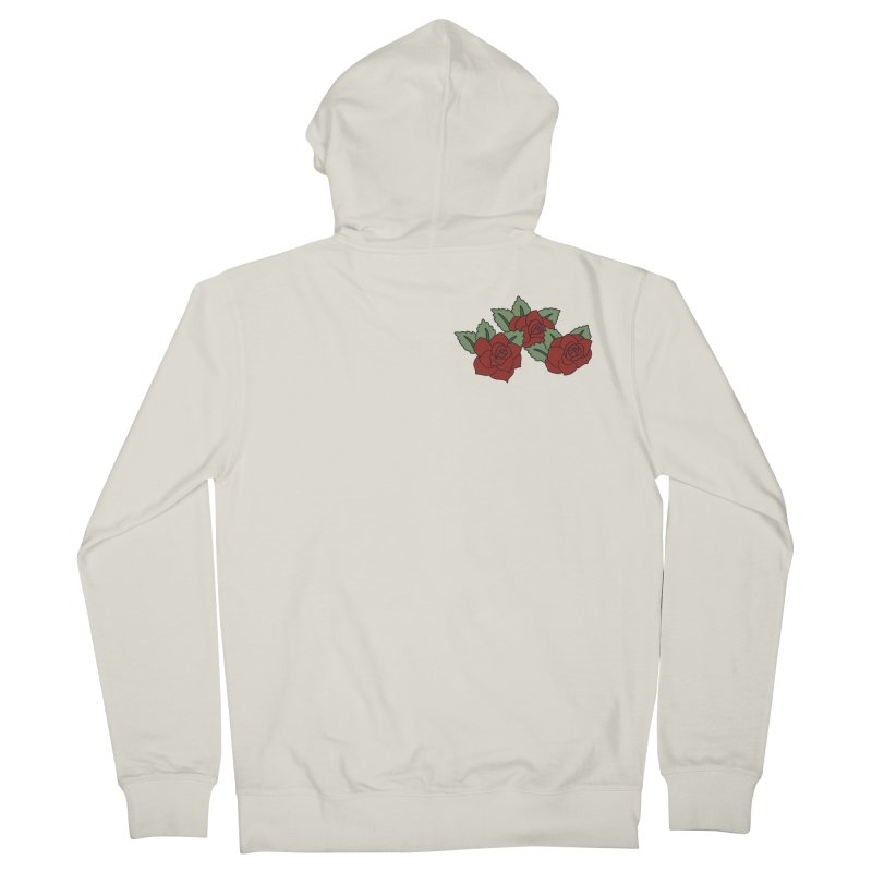 Bloody roses on black Women's French Terry Zip-Up Hoody by Hello Siyi