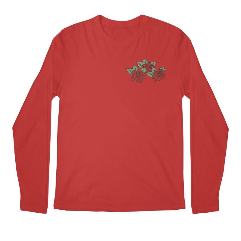 Bloody roses on black Men's Regular Longsleeve T-Shirt by Hello Siyi