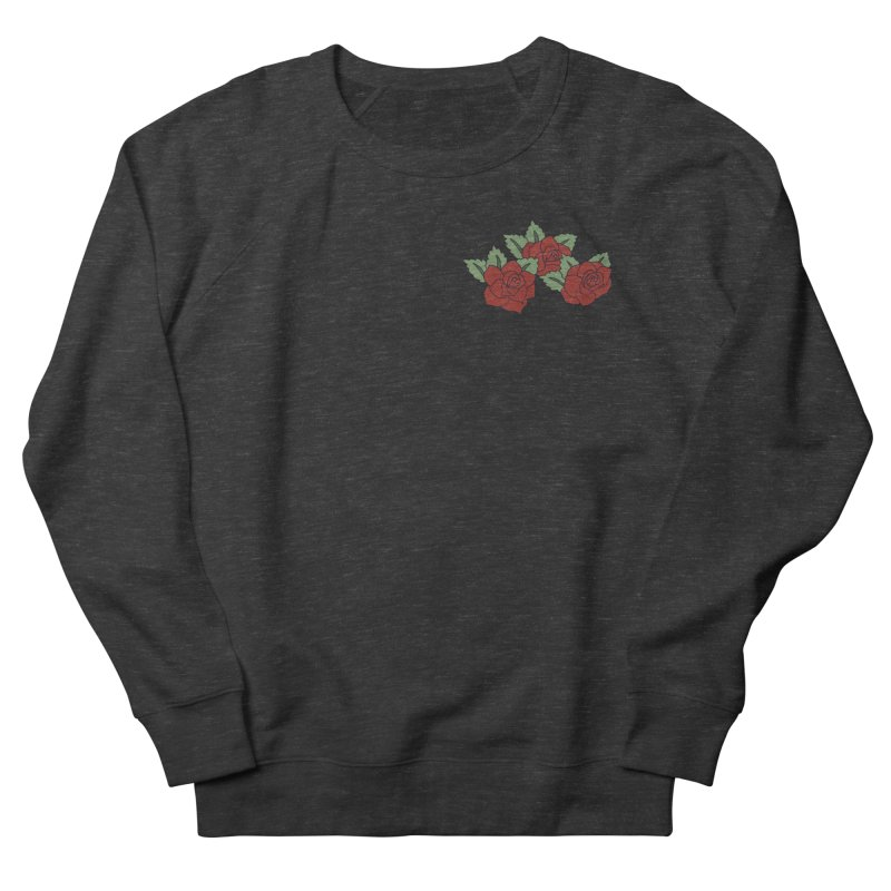 Bloody roses on black Women's French Terry Sweatshirt by Hello Siyi