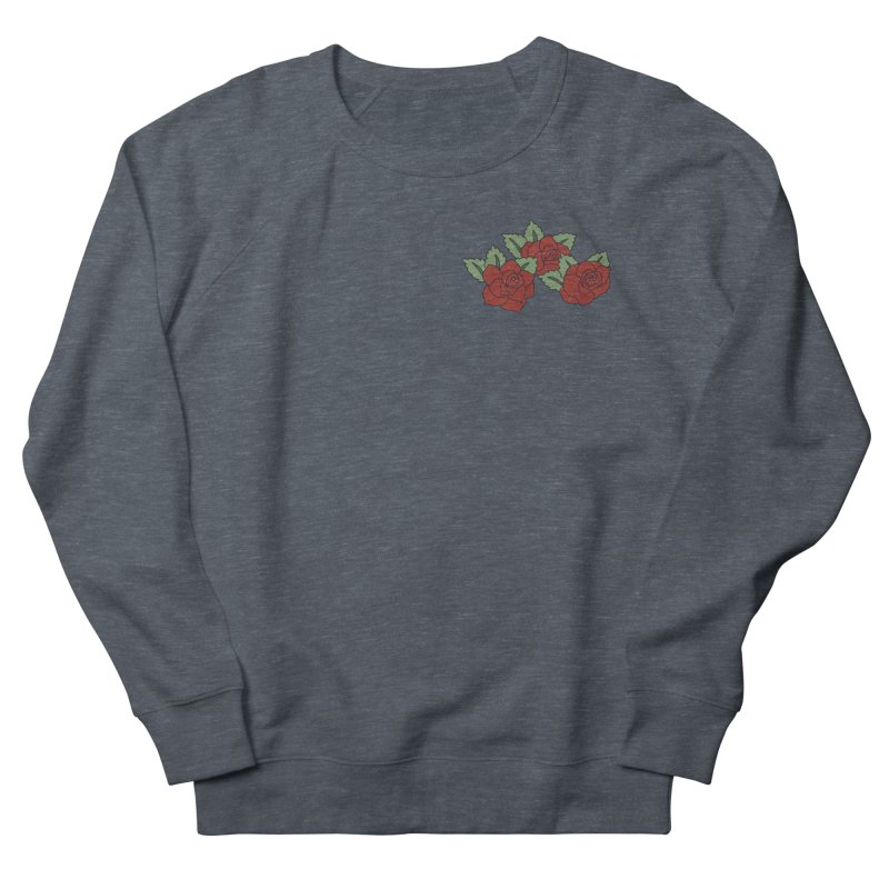 Bloody roses on black Men's French Terry Sweatshirt by Hello Siyi