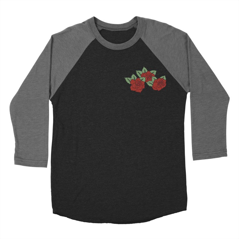 Bloody roses on black Women's Baseball Triblend Longsleeve T-Shirt by Hello Siyi