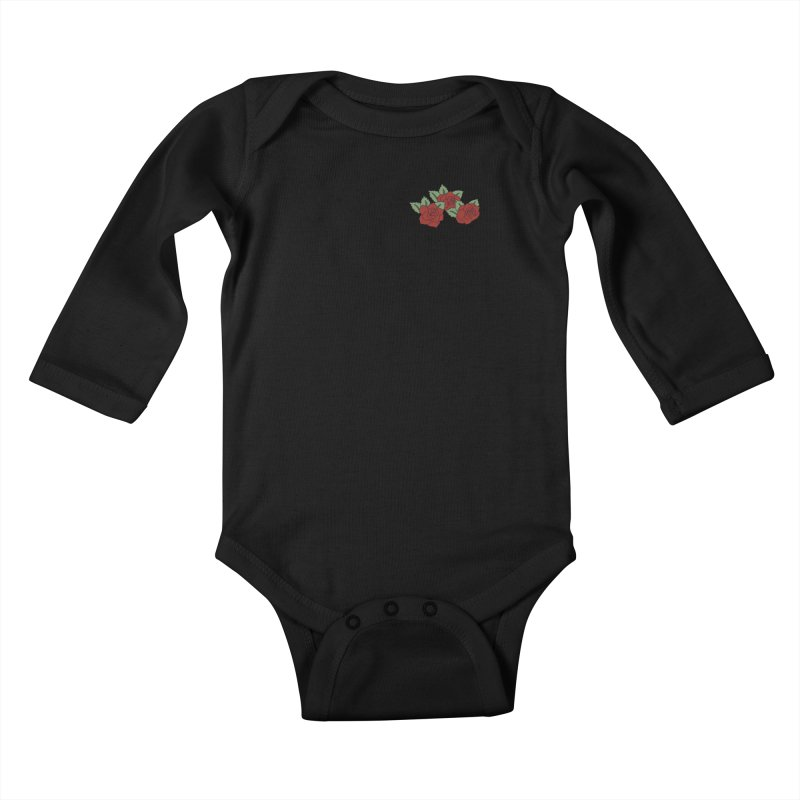 Bloody roses on black Kids Baby Longsleeve Bodysuit by Hello Siyi