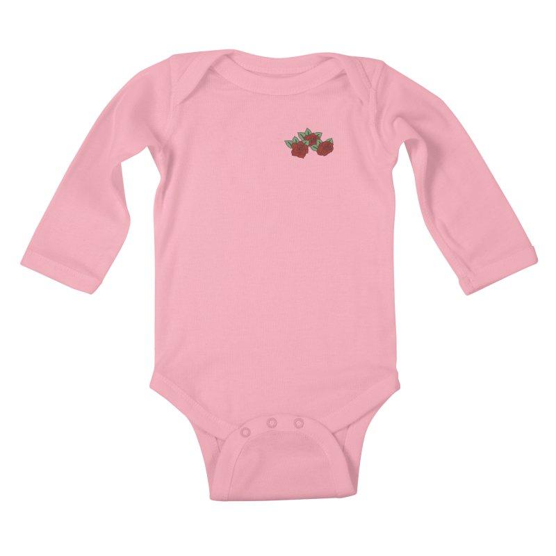 Bloody roses on black Kids Baby Longsleeve Bodysuit by Hello Siyi