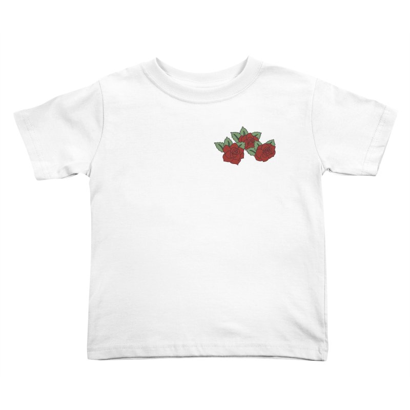 Bloody roses on black Kids Toddler T-Shirt by Hello Siyi