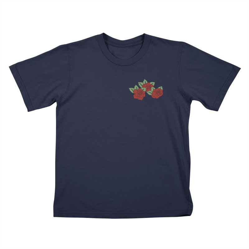 Bloody roses on black Kids T-Shirt by Hello Siyi