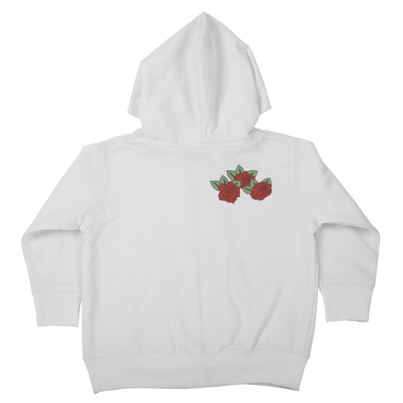 Bloody roses on black Kids Toddler Zip-Up Hoody by Hello Siyi