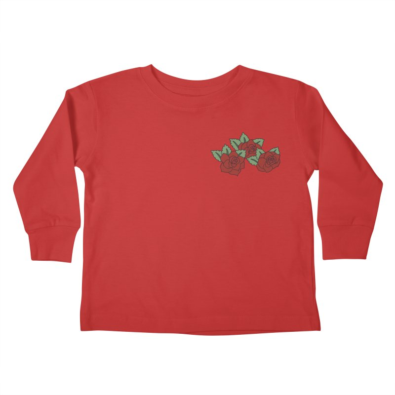 Bloody roses on black Kids Toddler Longsleeve T-Shirt by Hello Siyi