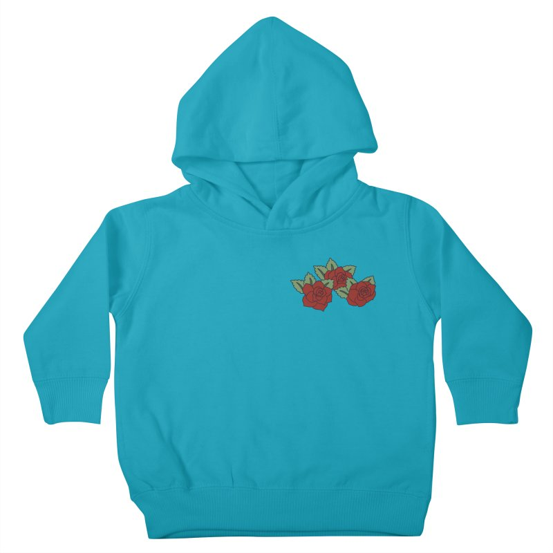 Bloody roses on black Kids Toddler Pullover Hoody by Hello Siyi