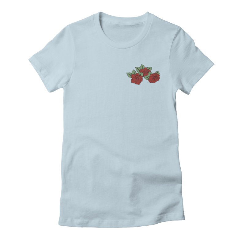 Bloody roses on black Women's Fitted T-Shirt by Hello Siyi