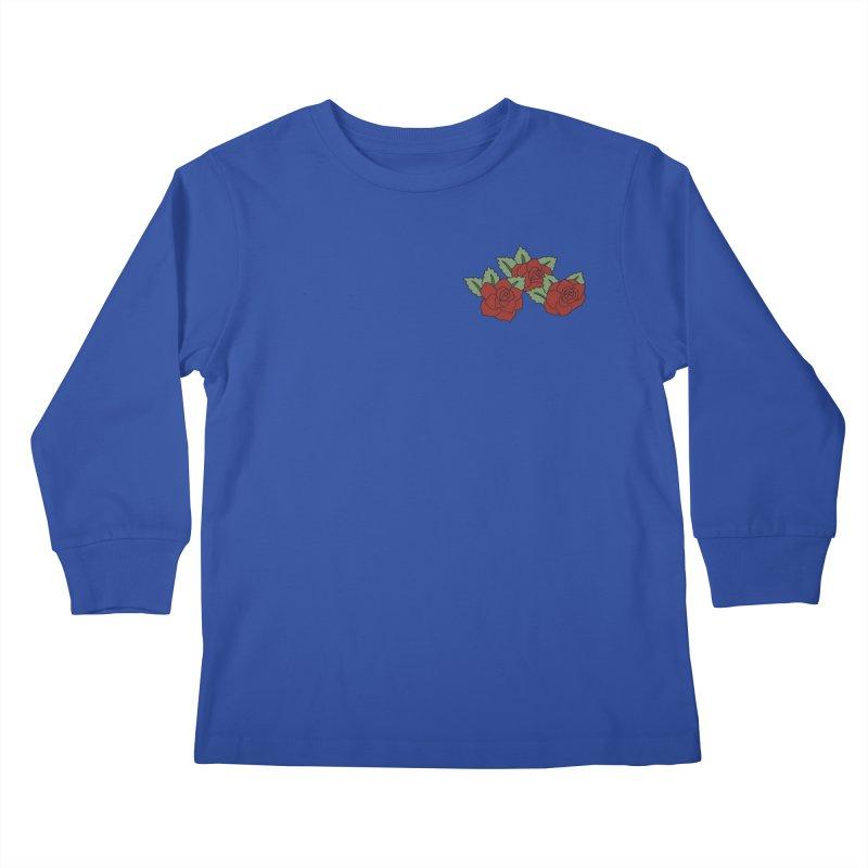 Bloody roses on black Kids Longsleeve T-Shirt by Hello Siyi