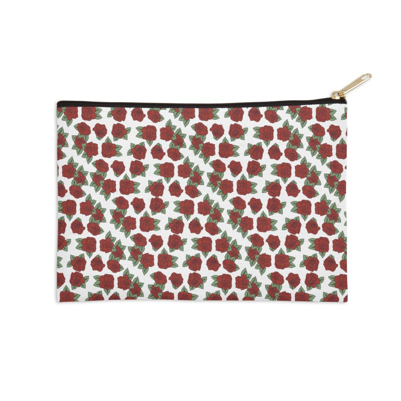 Bloddy roses on white Accessories Zip Pouch by Hello Siyi