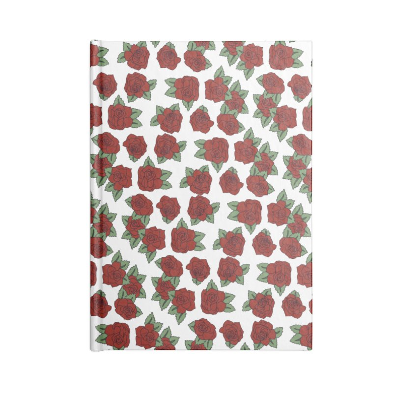 Bloddy roses on white Accessories Notebook by Hello Siyi