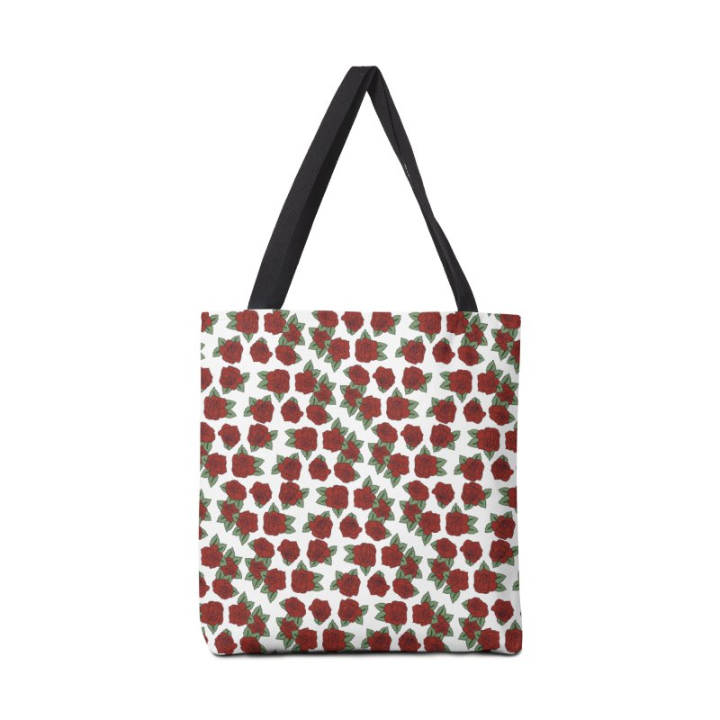 Bloddy roses on white Accessories Bag by Hello Siyi
