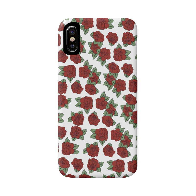 Bloddy roses on white Accessories Phone Case by Hello Siyi