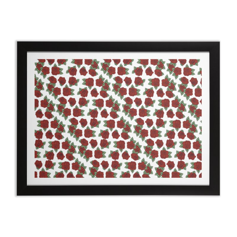 Bloddy roses on white Home Framed Fine Art Print by Hello Siyi