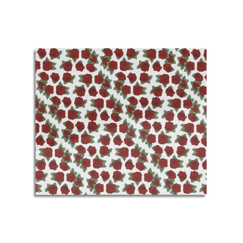 Bloddy roses on white Home Mounted Aluminum Print by Hello Siyi
