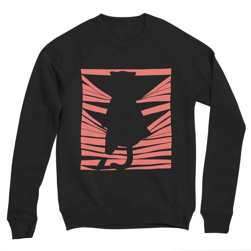 Cat playing with blinds Men's Sponge Fleece Sweatshirt by Hello Siyi