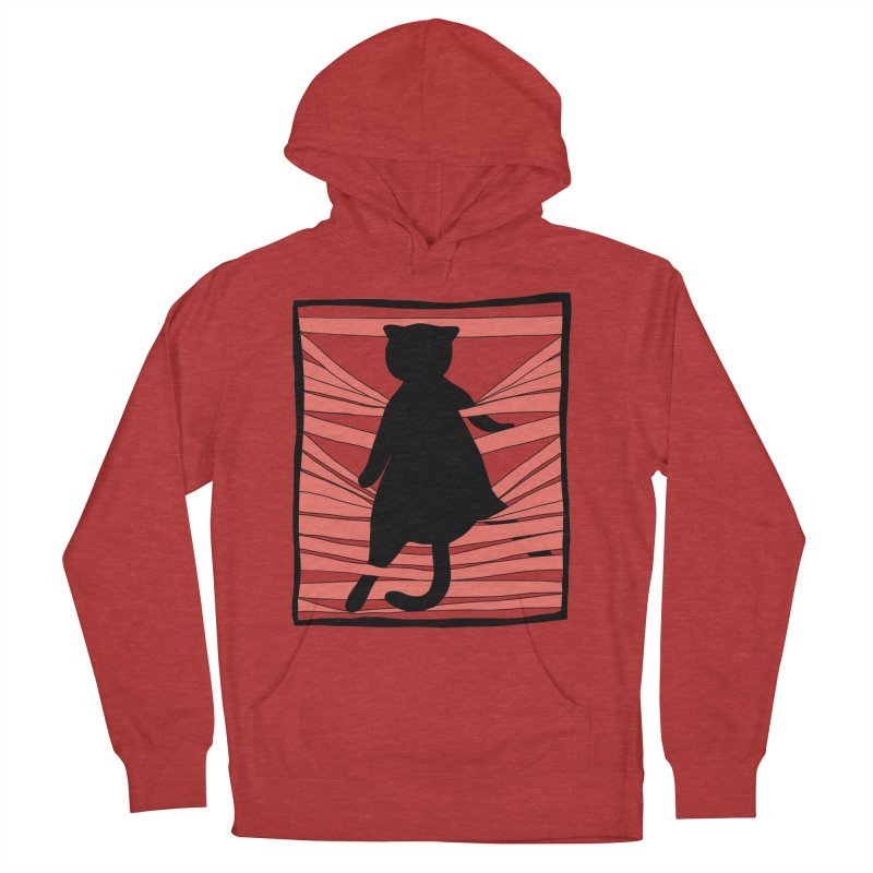 Cat playing with blinds Men's Pullover Hoody by Hello Siyi
