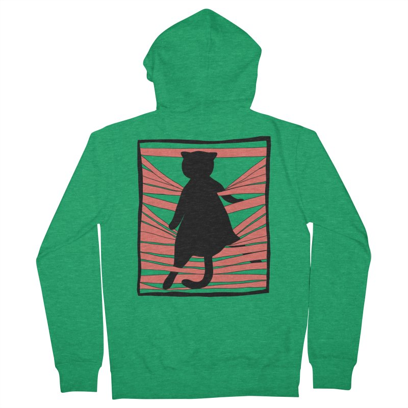 Cat playing with blinds Men's Zip-Up Hoody by Hello Siyi