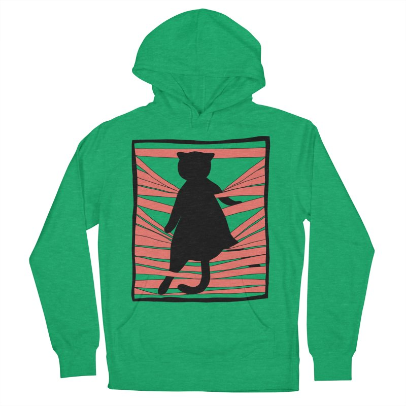 Cat playing with blinds Women's French Terry Pullover Hoody by Hello Siyi