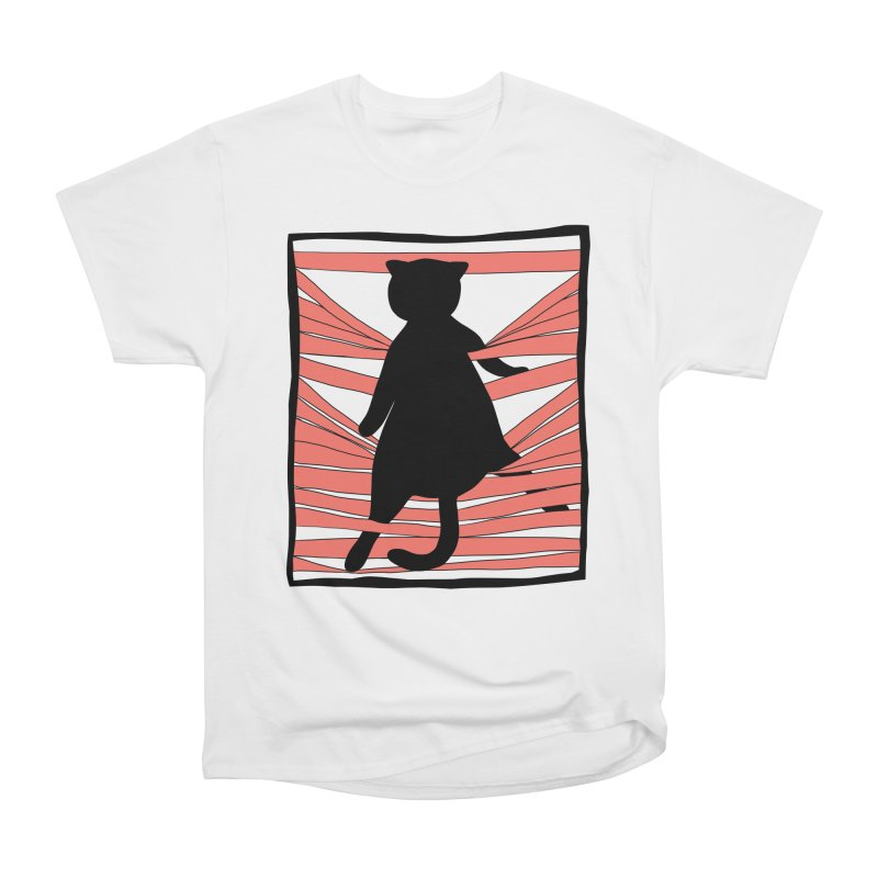 Cat playing with blinds Men's Heavyweight T-Shirt by Hello Siyi