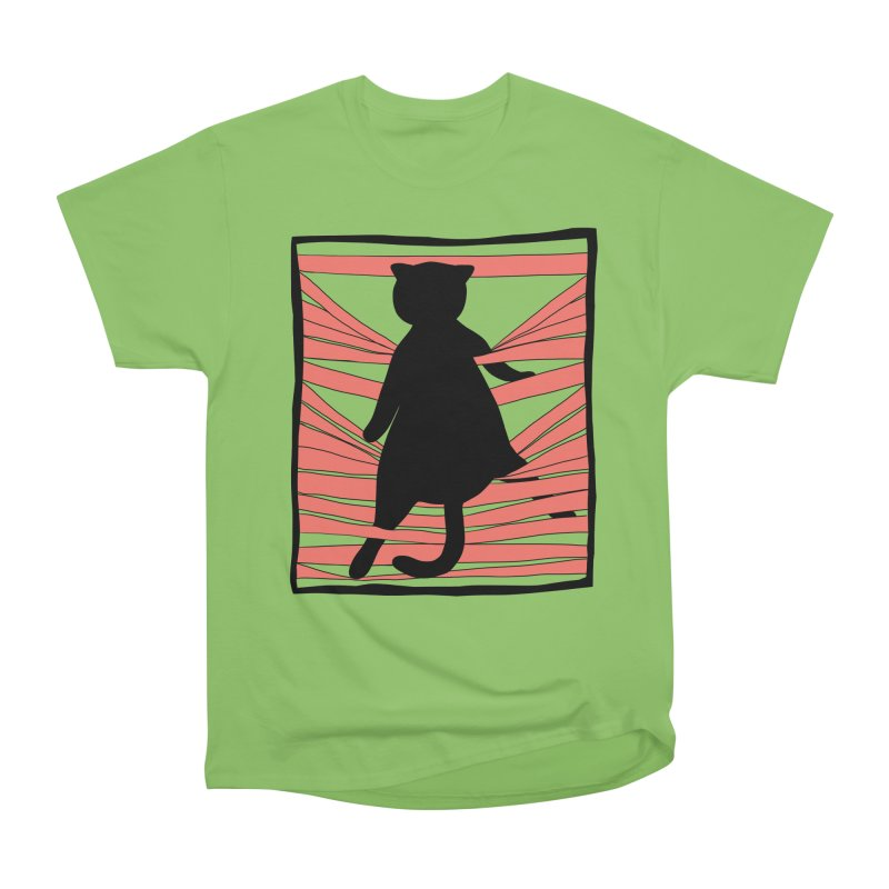 Cat playing with blinds Women's Heavyweight Unisex T-Shirt by Hello Siyi