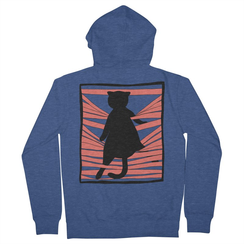 Cat playing with blinds Women's French Terry Zip-Up Hoody by Hello Siyi
