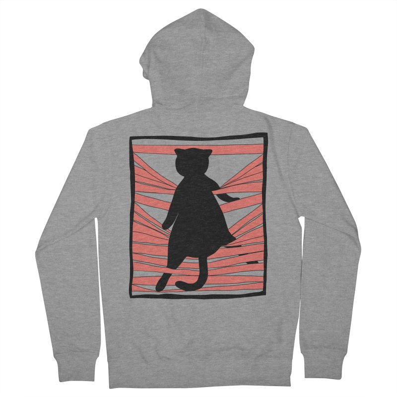 Cat playing with blinds Men's French Terry Zip-Up Hoody by Hello Siyi
