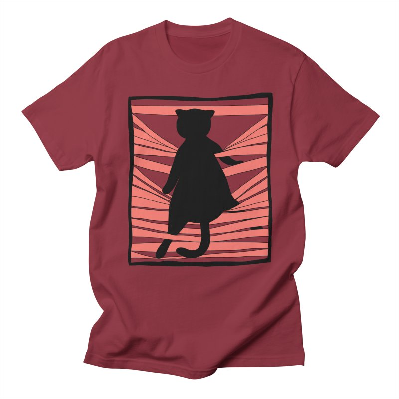 Cat playing with blinds Women's Regular Unisex T-Shirt by Hello Siyi