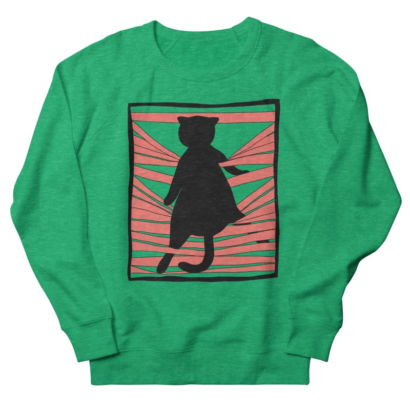 Cat playing with blinds Women's French Terry Sweatshirt by Hello Siyi
