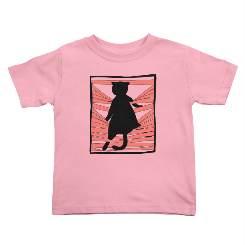 Cat playing with blinds Kids Toddler T-Shirt by Hello Siyi