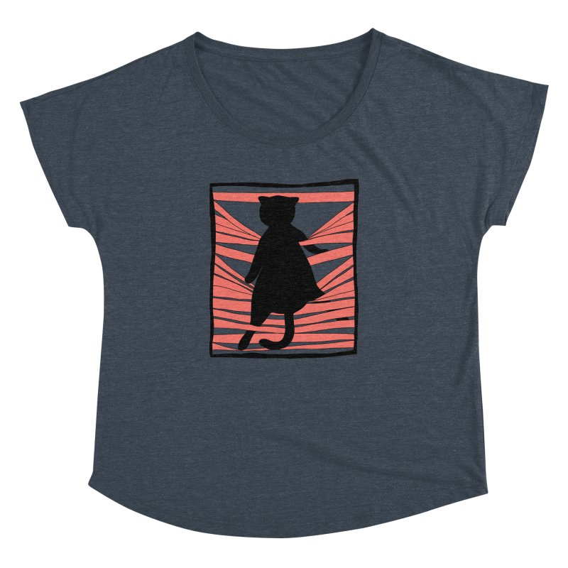Cat playing with blinds Women's Dolman Scoop Neck by Hello Siyi