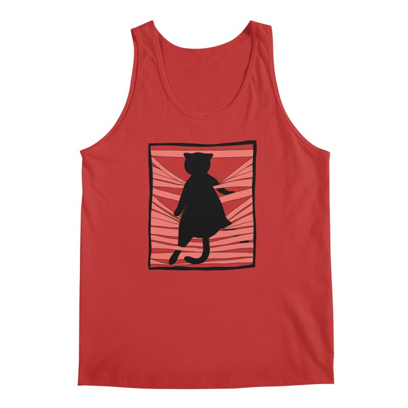 Cat playing with blinds Men's Regular Tank by Hello Siyi
