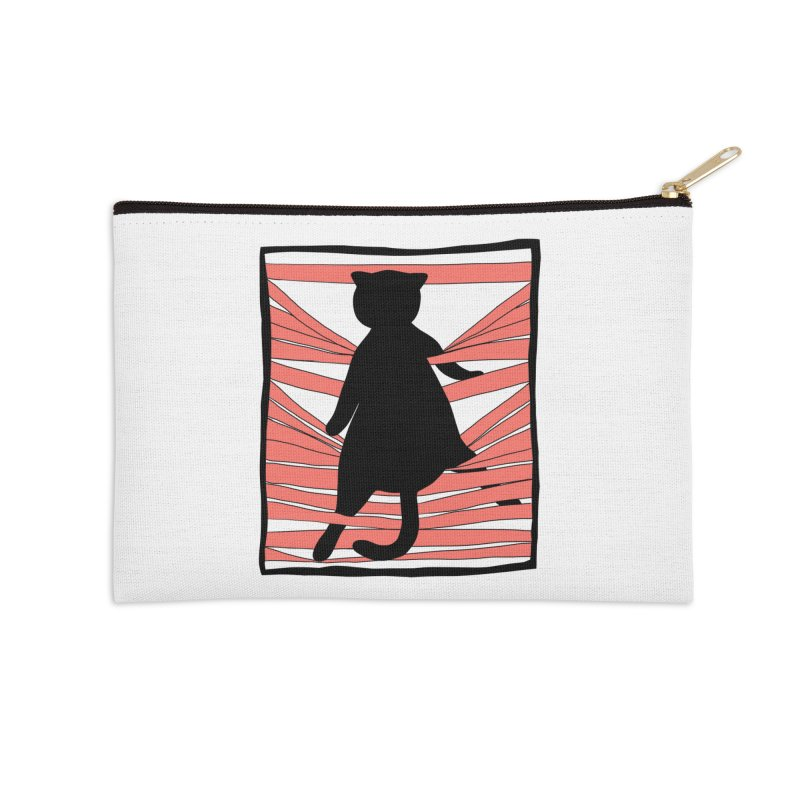 Cat playing with blinds Accessories Zip Pouch by Hello Siyi