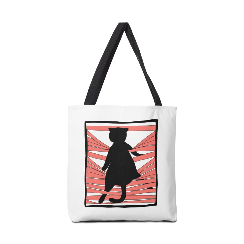 Cat playing with blinds Accessories Bag by Hello Siyi