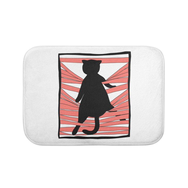 Cat playing with blinds Home Bath Mat by Hello Siyi