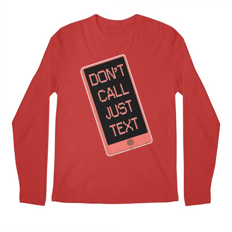 Don't call, just text! Men's Regular Longsleeve T-Shirt by Hello Siyi