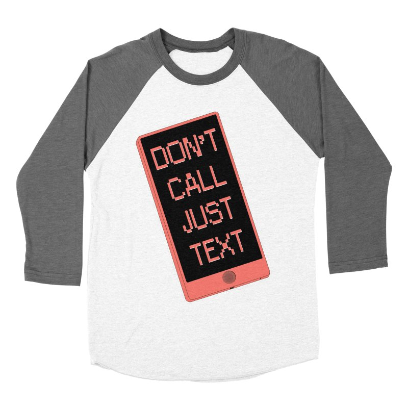 Don't call, just text! Men's Baseball Triblend Longsleeve T-Shirt by Hello Siyi