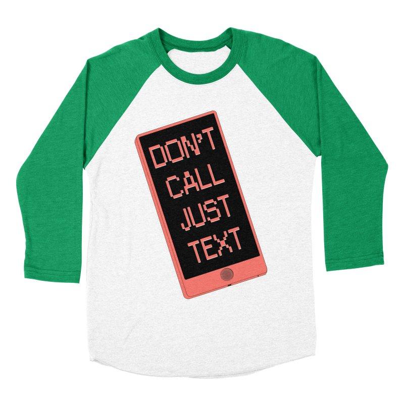 Don't call, just text! Men's Baseball Triblend Longsleeve T-Shirt by Hello Siyi