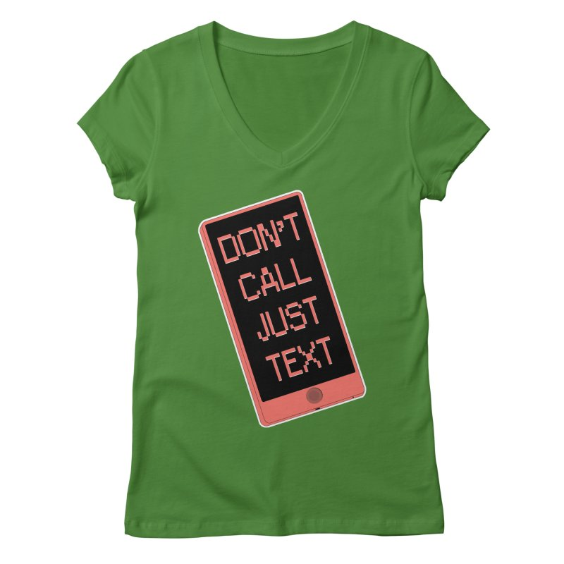 Don't call, just text! Women's Regular V-Neck by Hello Siyi