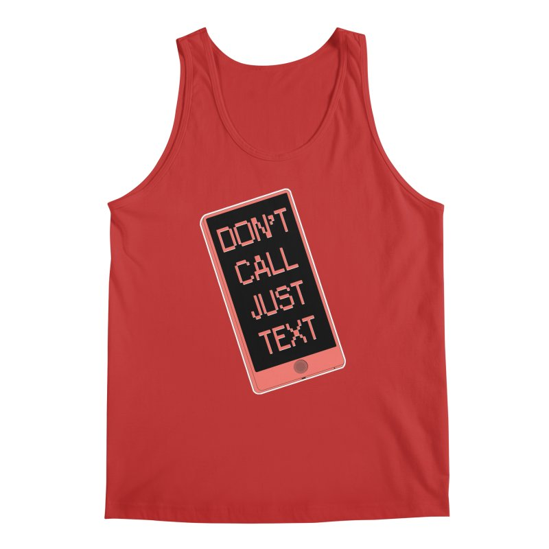 Don't call, just text! Men's Regular Tank by Hello Siyi
