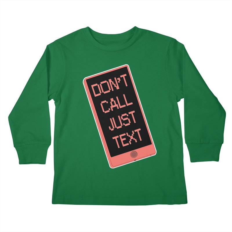 Don't call, just text! Kids Longsleeve T-Shirt by Hello Siyi