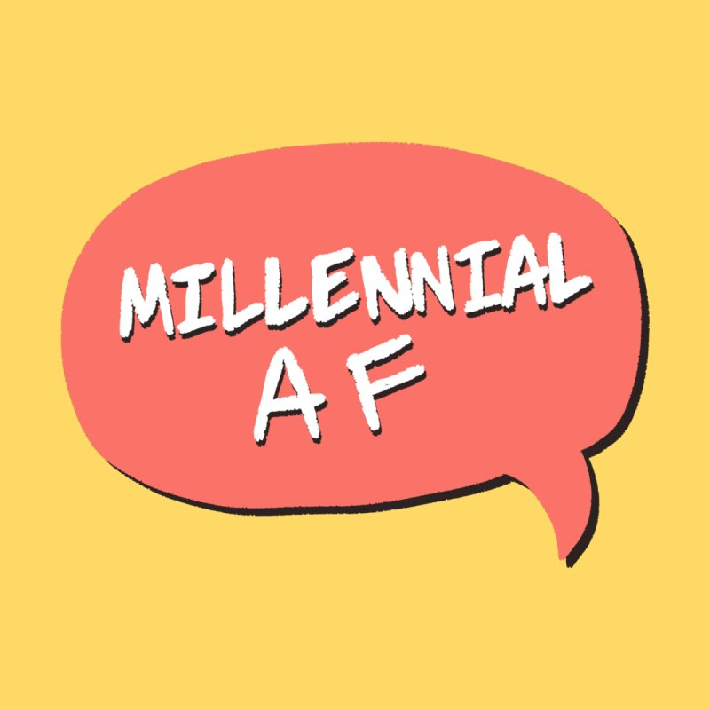 Millennial AF Home Stretched Canvas by Hello Siyi