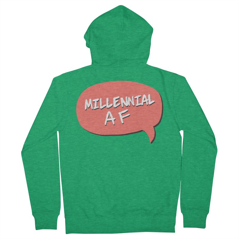 Millennial AF Men's Zip-Up Hoody by Hello Siyi