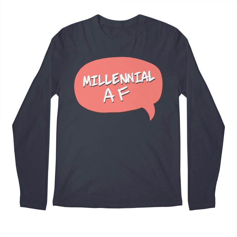 Millennial AF Men's Regular Longsleeve T-Shirt by Hello Siyi