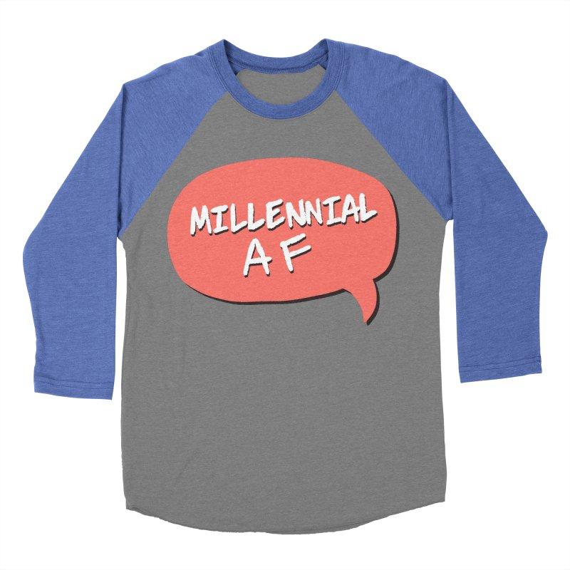 Millennial AF Women's Baseball Triblend Longsleeve T-Shirt by Hello Siyi