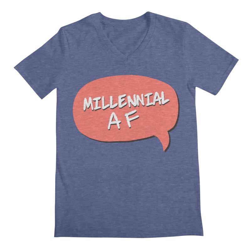 Millennial AF Men's Regular V-Neck by Hello Siyi