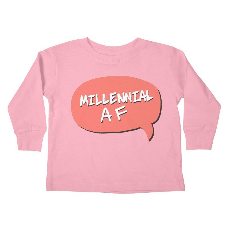 Millennial AF Kids Toddler Longsleeve T-Shirt by Hello Siyi