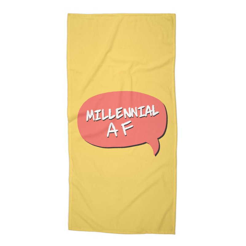 Millennial AF Accessories Beach Towel by Hello Siyi