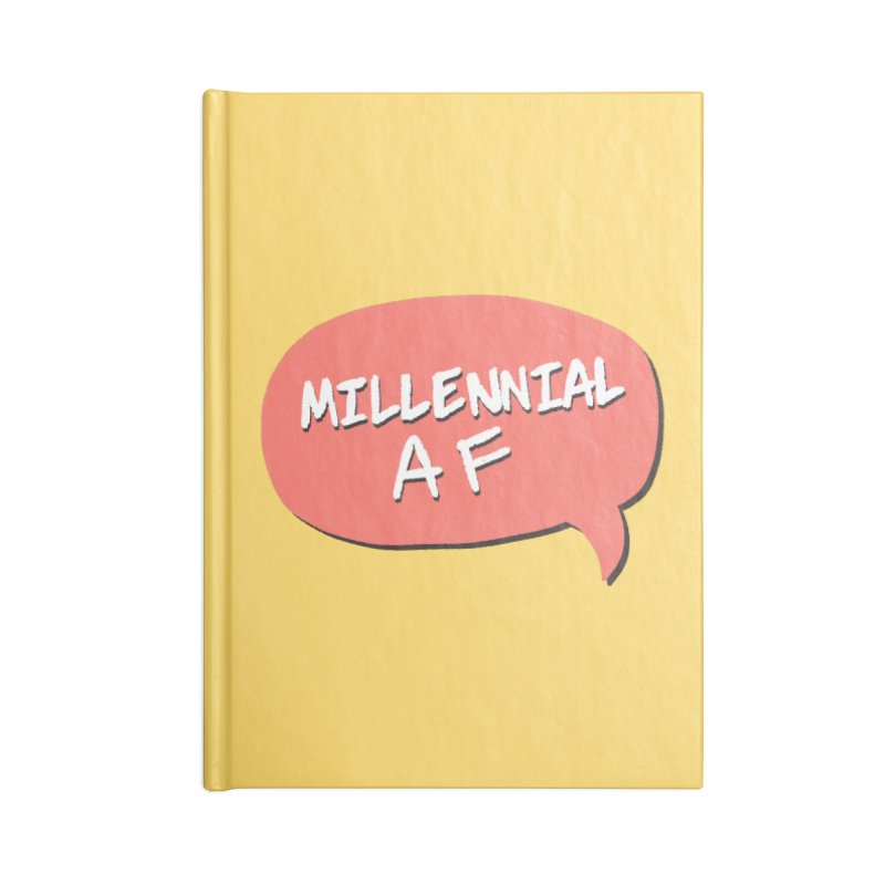 Millennial AF Accessories Blank Journal Notebook by Hello Siyi